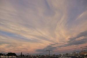 台風一過の夕映え