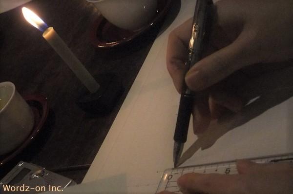 ローソク足を手書きしましょう!